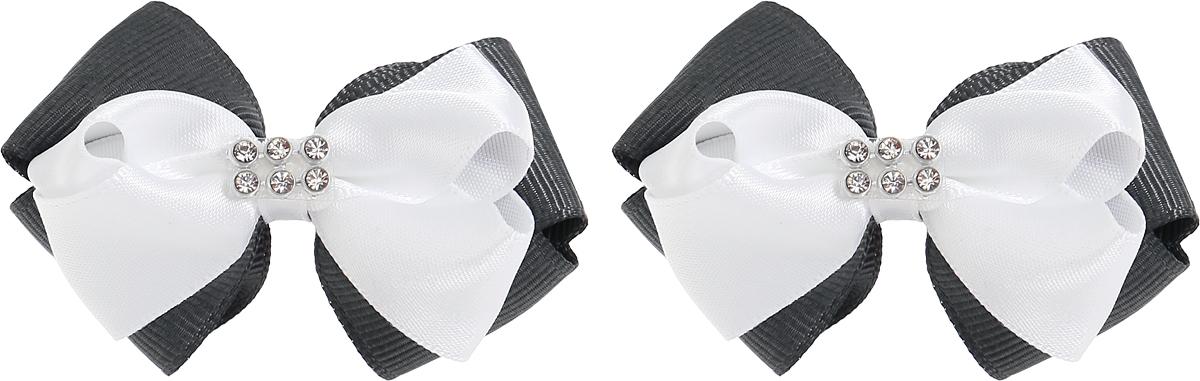 Babys Joy Резинка для волос цвет серый белый 2 шт MN 131/2MN 131/2_черный, белыйРезинка для волос Babys Joy выполнена в виде двойного банта из атласной белой и декоративной черной ленты, центр которого закреплен элементом из страз. Резинка позволит не только убрать непослушные волосы с лица, но и придать образу немного романтичности и очарования. В упаковке: 2 резинки. Рекомендовано для детей старше трех лет.