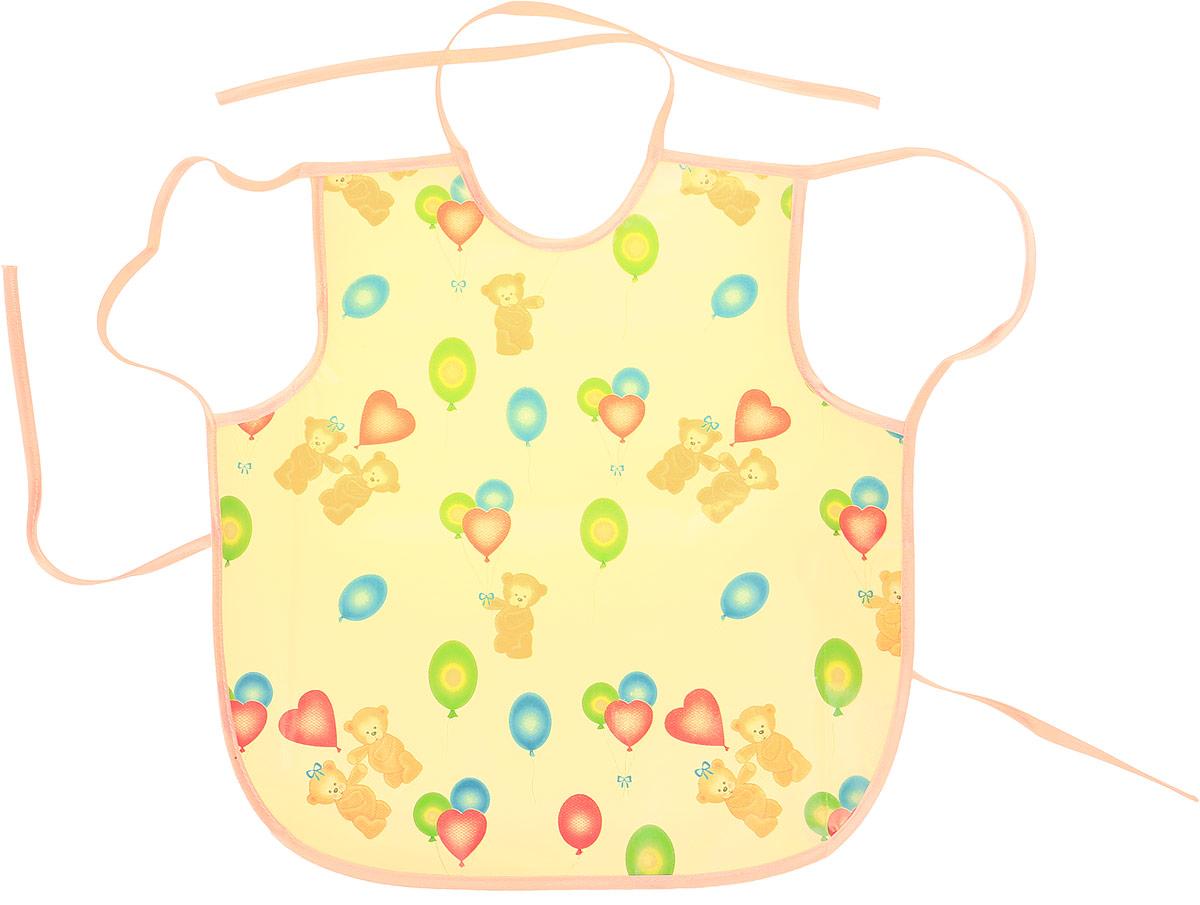 Колорит Фартук защитный Мишки с шариками цвет желтый светло-розовый 36 х 38 см