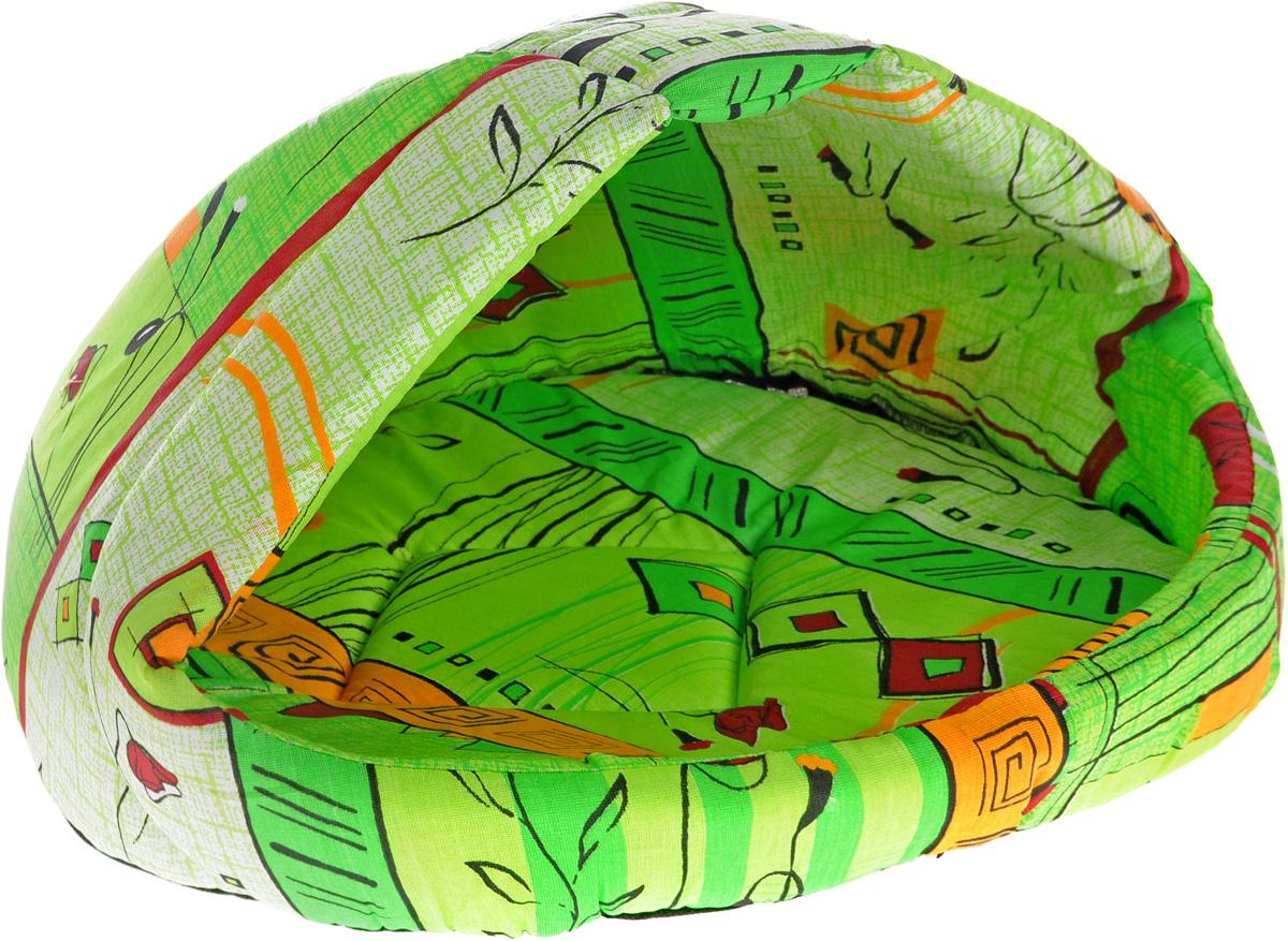 Лежак для животных Elite Valley Лукошко, цвет: зеленый, 50 х 42 х 40 см. Л13/3Л13/3 Лежак полузакрытый лукошко _ стамбул зеленый, материал бязь, поролонЛежак полузакрытый лукошко _ стамбул зеленый, материал бязь, поролон