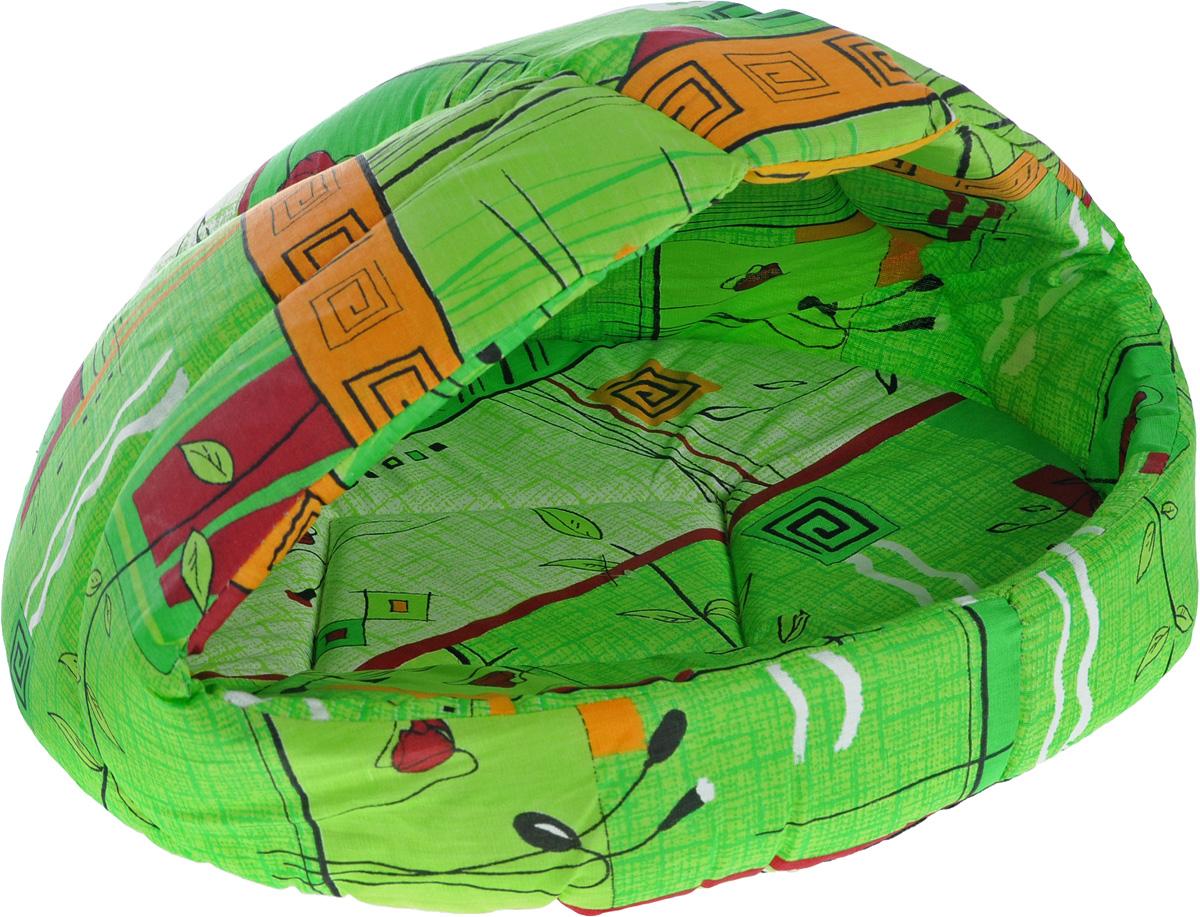 Лежак для животных Elite Valley Лукошко, цвет: салатовый, оранжевый, 55 х 47 х 45 см. Л-13/4Л-13/4_салатовый, оранжевыйЛежак Elite Valley Лукошко непременно станет любимым местом отдыха вашего домашнего животного. Изделие выполнено из бязи и нетканого материала, а наполнитель - из поролона. Такой материал не теряет своей формы долгое время. Внутри имеется мягкая съемная подстилка. На таком лежаке вашему любимцу будет мягко и тепло. Он подарит вашему питомцу ощущение уюта и уединенности, а также возможность спрятаться.