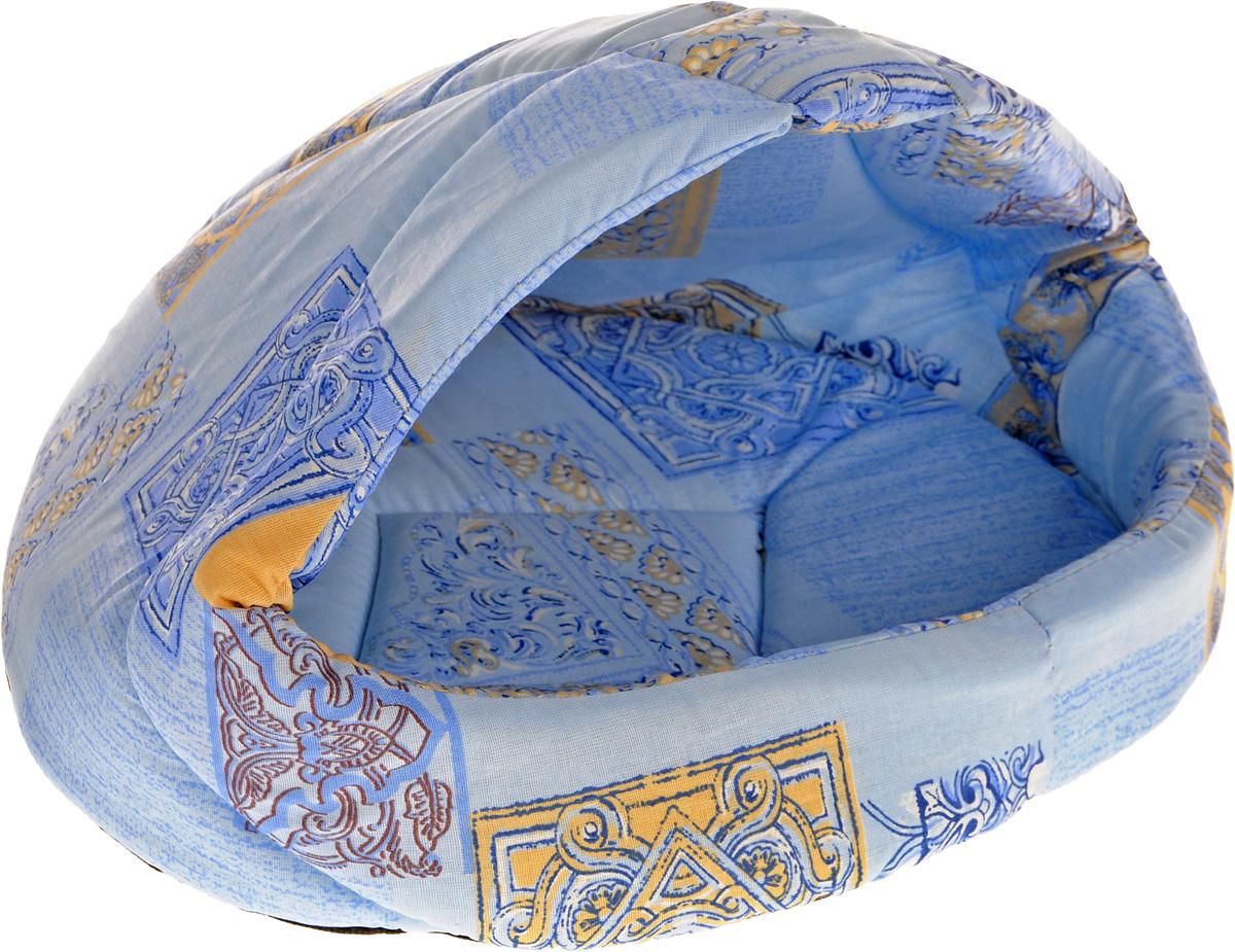 Лежак для животных Elite Valley Лукошко, цвет: голубой, бежевый, 45 х 35 х 34 см. Л-13/2Л-13/2_голубой, бежевыйЛежак Elite Valley Лукошко непременно станет любимым местом отдыха вашего домашнего животного. Изделие выполнено из бязи и нетканого материала, а наполнитель - из поролона. Такой материал не теряет своей формы долгое время. Внутри имеется мягкая съемная подстилка. На таком лежаке вашему любимцу будет мягко и тепло. Он подарит вашему питомцу ощущение уюта и уединенности, а также возможность спрятаться.