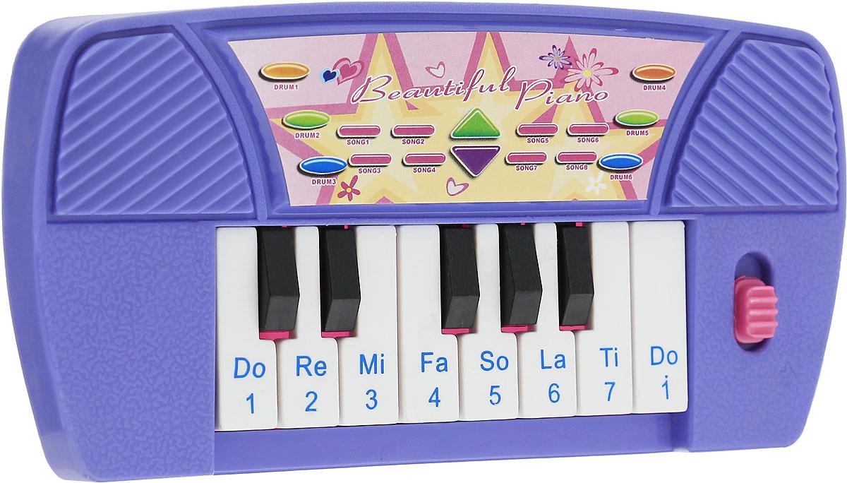 S+S Toys Музыкальная игрушка Пианино цвет фиолетовый розовый