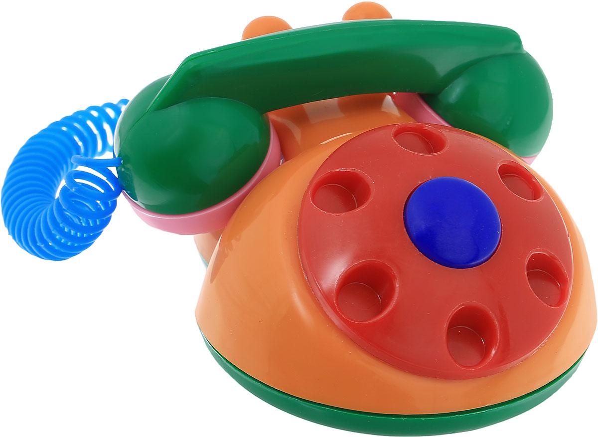Аэлита Детский телефон цвет оранжевый красный