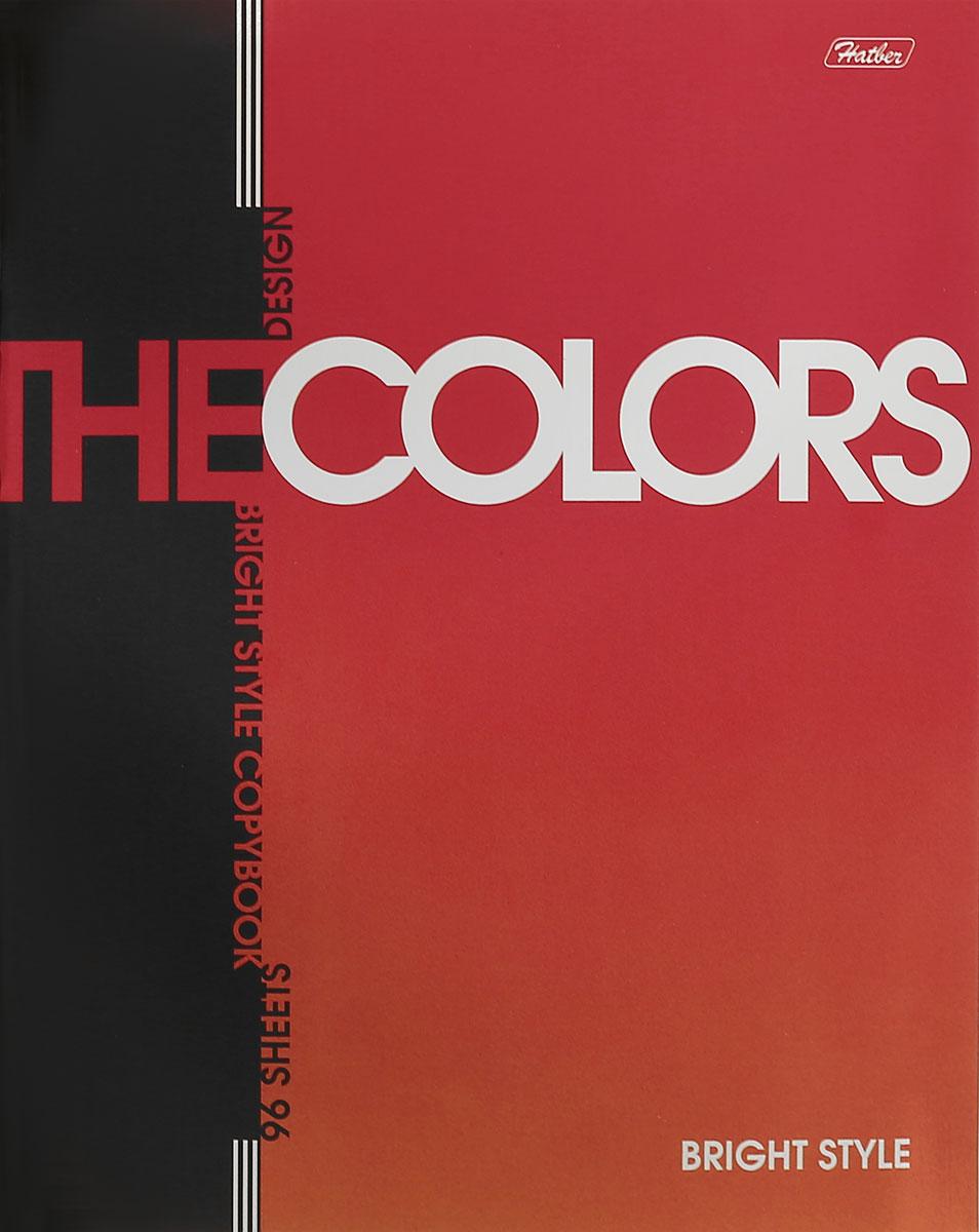 Hatber Тетрадь The Colors 96 листов в клетку цвет оранжевый96Т5мтВ1_14483Тетрадь Hatber The Colors отлично подойдет для занятий школьнику, студенту или для различных записей. Обложка, выполненная из плотного металлизированного картона, украшена изображением английских букв. Внутренний блок тетради, соединенный металлическими скрепками, состоит из 96 листов белой бумаги в голубую клетку с полями.