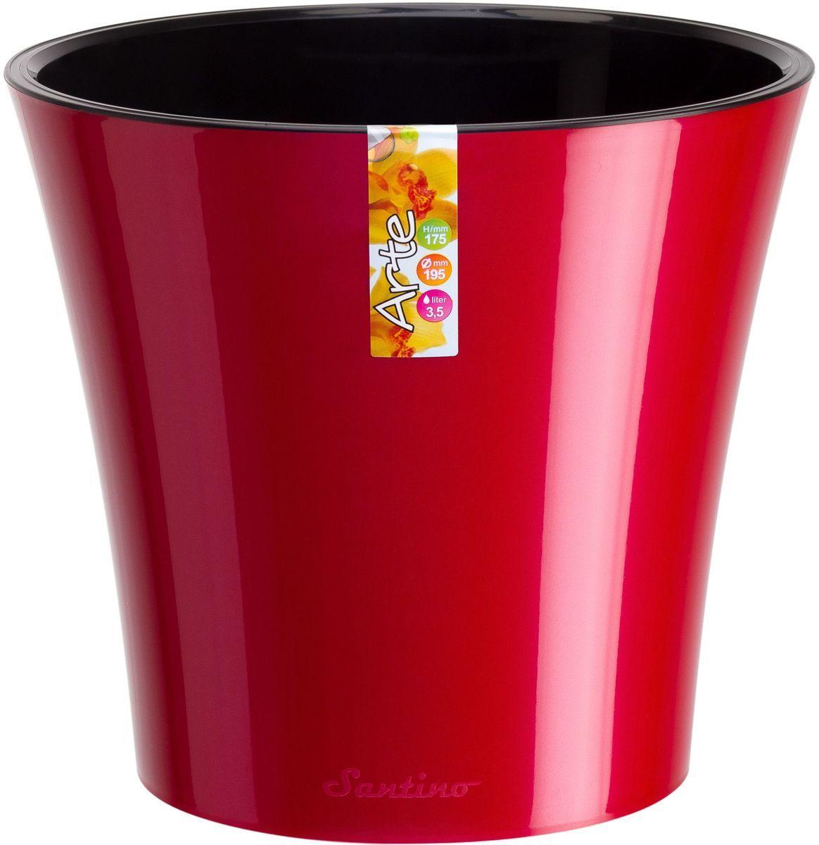 Горшок цветочный Santino Арте, двойной, с системой автополива, цвет: красный, черный, 3,5 лАРТ 3,5 К-ЧСистем автополива - гарантия здоровья ваших цветов. Экономия времени - решение для самых занятых. Чистота и удобство - нет протекания воды при поливе. Здоровые корини - нет застаивания корней в воде. Оптимальный рост - корни обеспечены циркуляцией воздуха.