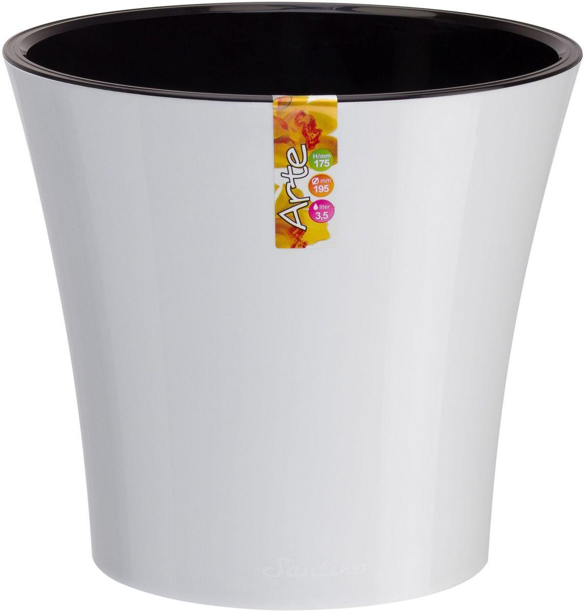 Горшок цветочный Santino Арте, двойной, с системой автополива, цвет: белый, черный, 5 лАРТ 5 Б-ЧСистем автополива - гарантия здоровья ваших цветов. Экономия времени - решение для самых занятых. Чистота и удобство - нет протекания воды при поливе. Здоровые корини - нет застаивания корней в воде. Оптимальный рост - корни обеспечены циркуляцией воздуха.