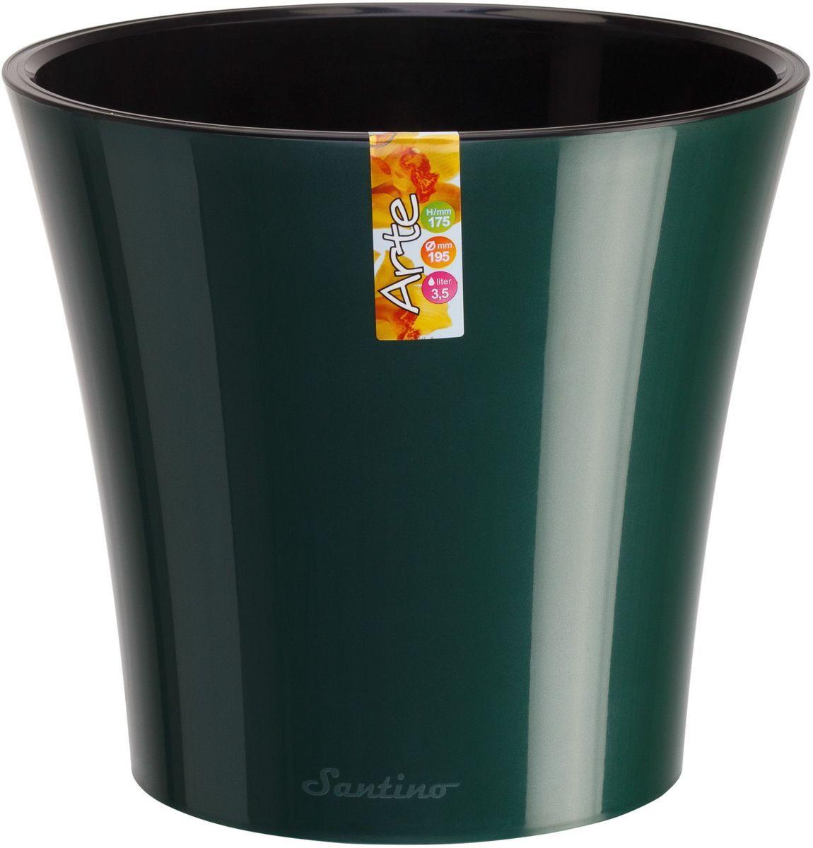 Горшок цветочный Santino Арте, двойной, с системой автополива, цвет: зеленый, черный, 5 лАРТ 5 ЗЕЛ-ЧСистем автополива - гарантия здоровья ваших цветов. Экономия времени - решение для самых занятых. Чистота и удобство - нет протекания воды при поливе. Здоровые корини - нет застаивания корней в воде. Оптимальный рост - корни обеспечены циркуляцией воздуха.
