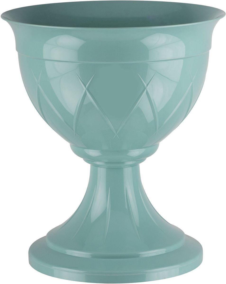 Горшок цветочный Santino Лилия, на ножке, цвет: нефрит, 6 лЛН 6 НЕФГоршок Лилия на ножке изготовлен из прочного пластика. Изделие предназначено для выращивания цветов и других растений как в домашних условиях, так и на улице