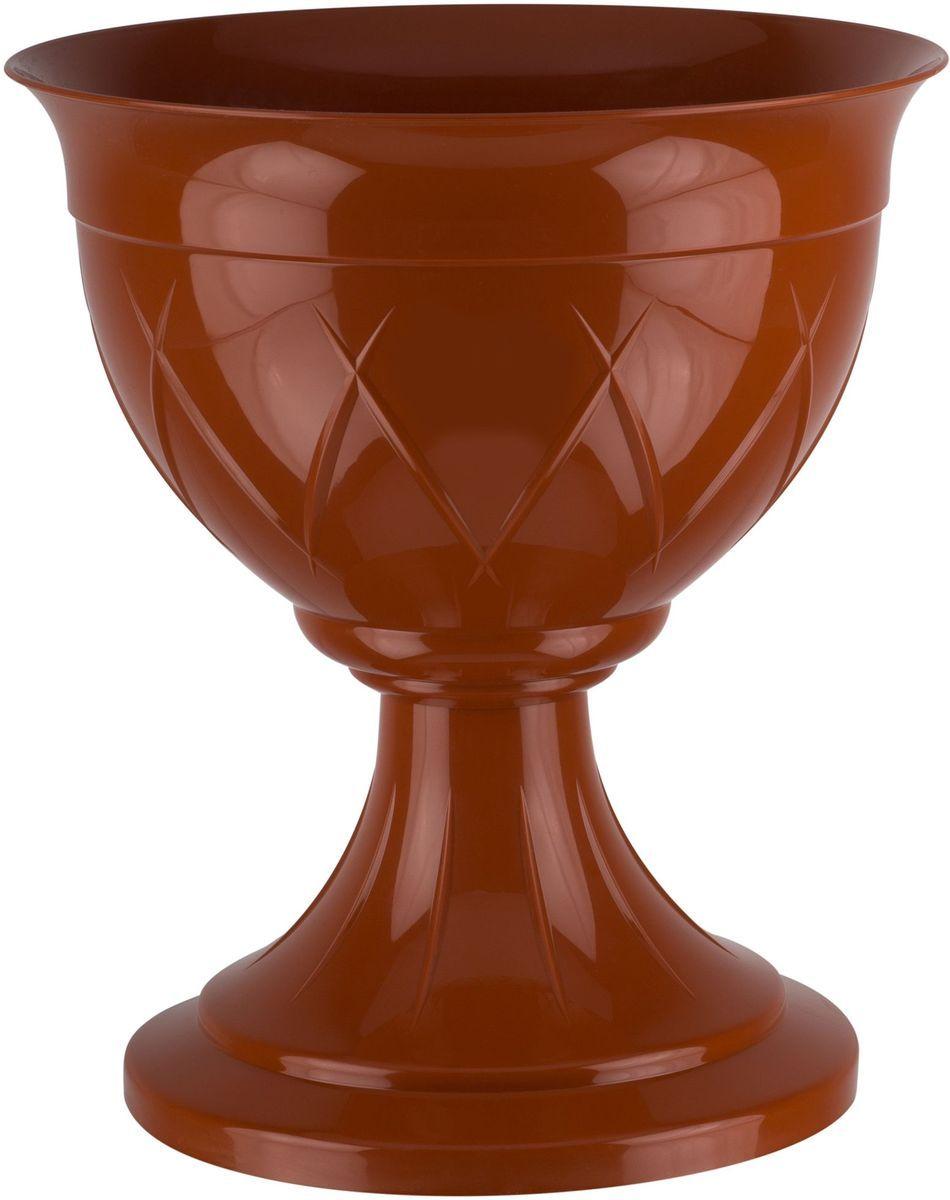 Горшок цветочный Santino Лилия, на ножке, цвет: терракотовый, 9 лЛН 9 ТЕРГоршок Лилия на ножке изготовлен из прочного пластика. Изделие предназначено для выращивания цветов и других растений как в домашних условиях, так и на улице