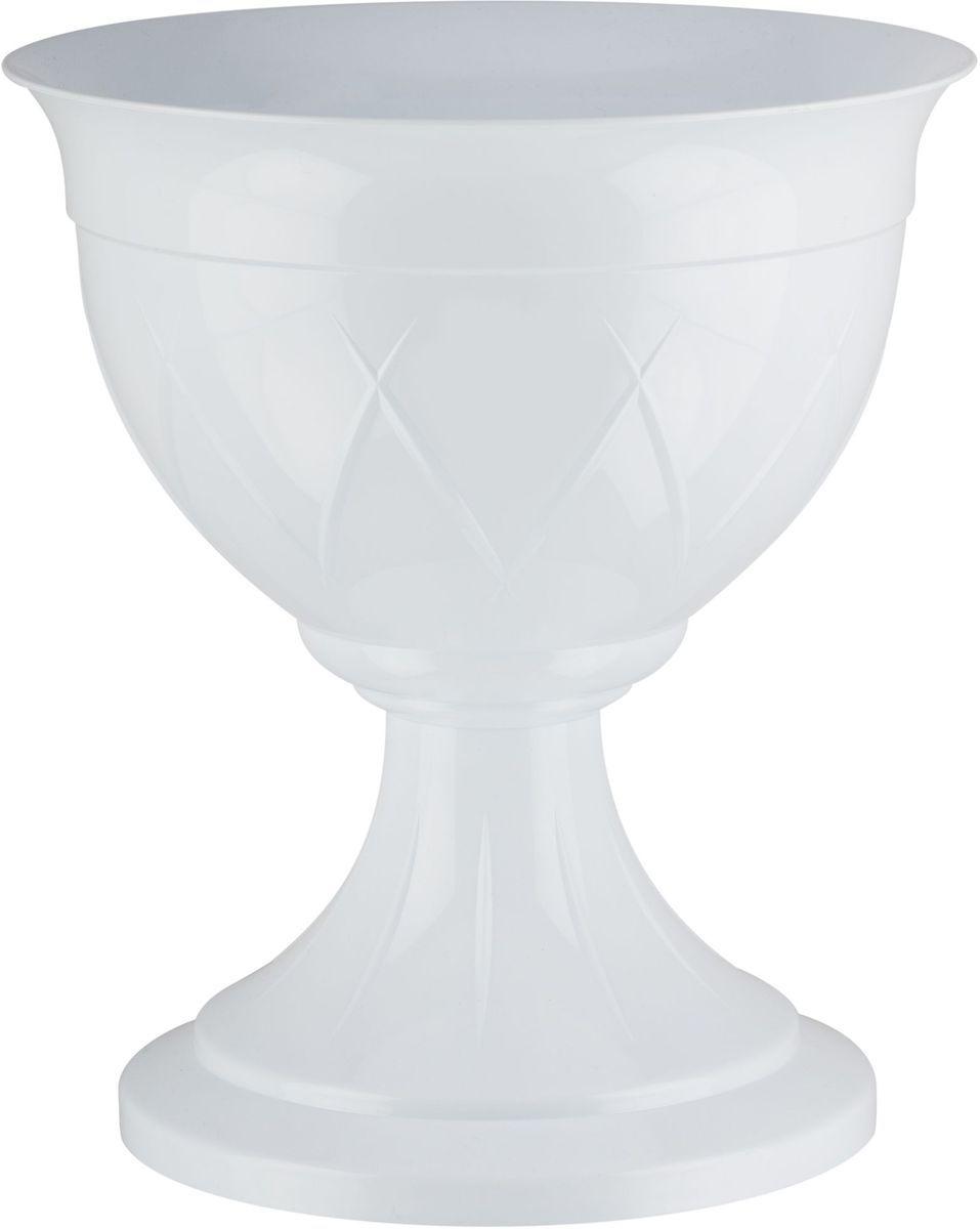 Горшок цветочный Santino Лилия, на ножке, цвет: белый, 14 лЛН 14 БЕЛГоршок Лилия на ножке изготовлен из прочного пластика. Изделие предназначено для выращивания цветов и других растений как в домашних условиях, так и на улице