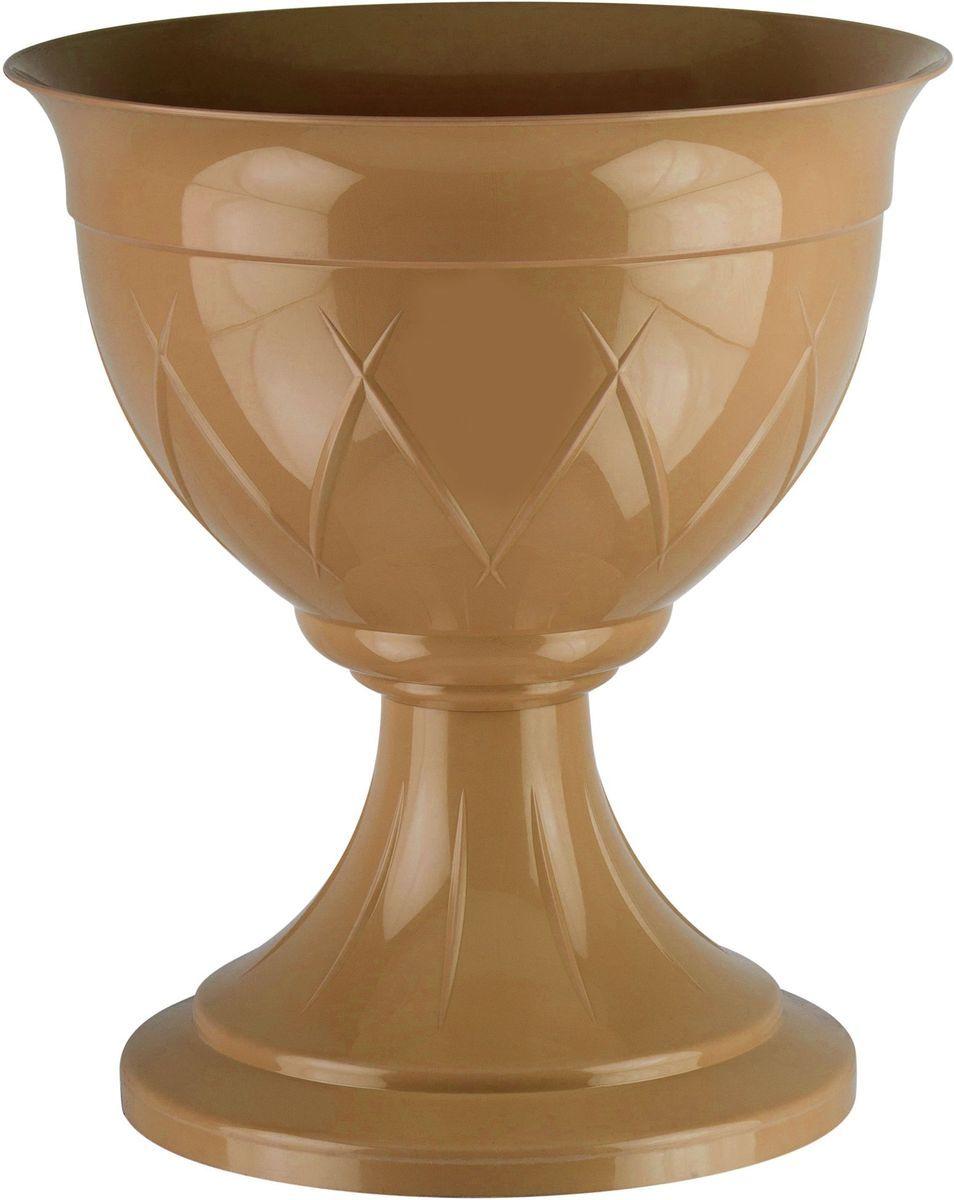 Горшок цветочный Santino Лилия, на ножке, цвет: золотой, 14 лЛН 14 ЗОЛГоршок Лилия на ножке изготовлен из прочного пластика. Изделие предназначено для выращивания цветов и других растений как в домашних условиях, так и на улице
