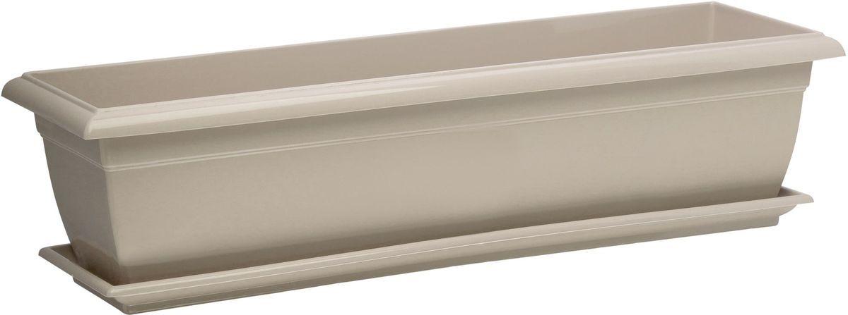 Поддон для балконного ящика Santino, цвет: песочный, 55х15х2,5 смПБ 600 ПЕПоддон для балконного ящика Santino изготовлен из прочного пластика.