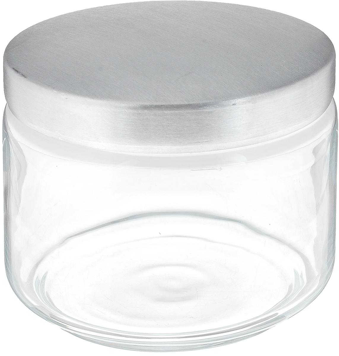 Банка для сыпучих продуктов Luminarc Boxmania, 500 мл48814Банка Luminarc Boxmania изготовлена из высококачественного стекла. Емкость подходит для хранения сыпучих продуктов: круп, специй, сахара, соли. Она снабжена металлической крышкой, которая плотно и герметично закрывается, дольше сохраняя аромат и свежесть содержимого. Банка Luminarc Boxmania станет полезным приобретением и пригодится на любой кухне. Высота банки (без учета крышки): 8 см. Диаметр банки (по верхнему краю): 9,5 см. Объем банки: 500 мл.