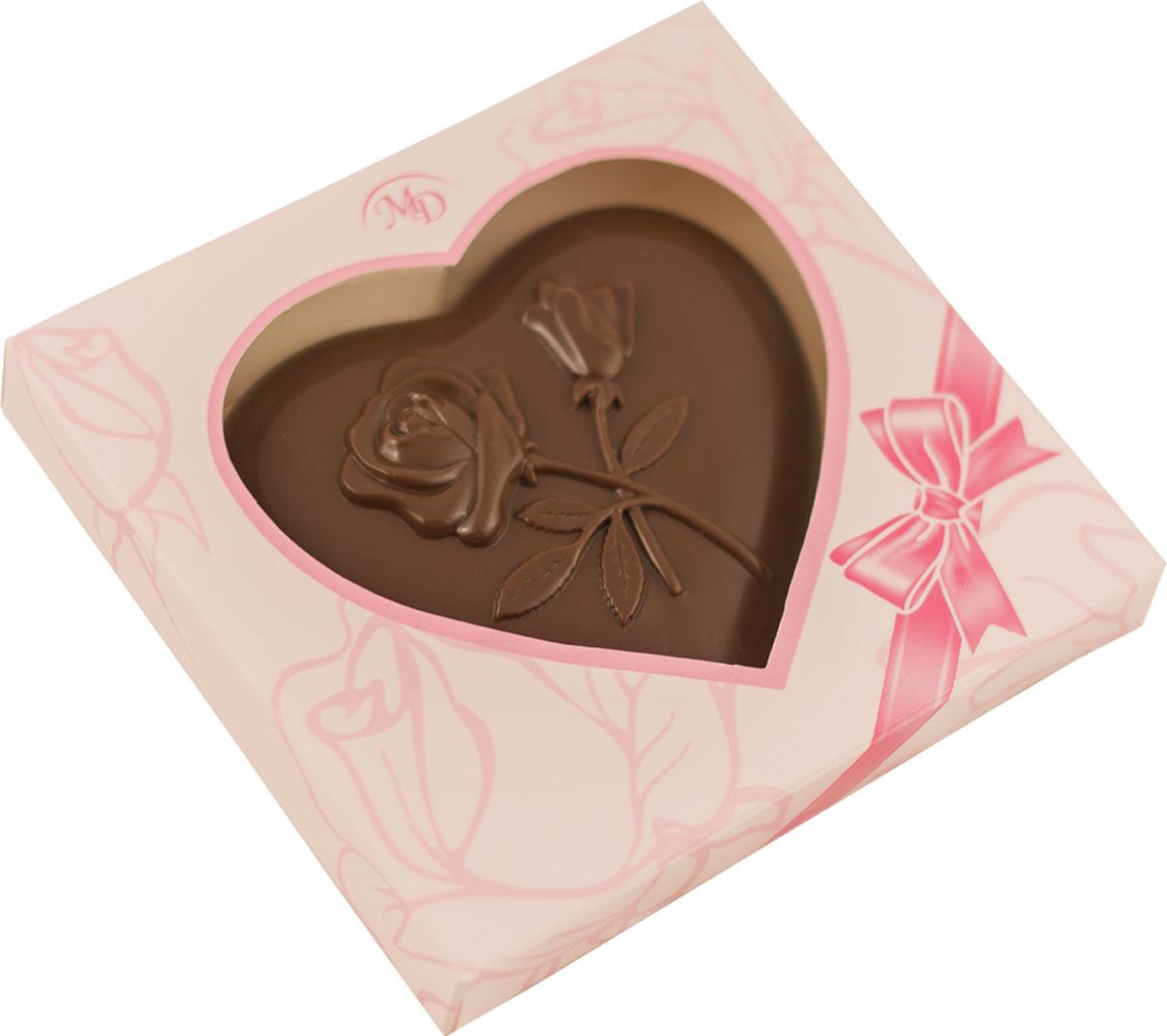 """Монетный двор """"Сердце"""" шоколадная фигура, 100 г 3406_розовая упаковка"""