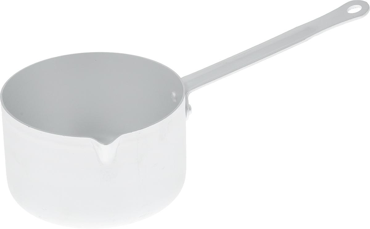 Кастрюля Kalitva, 750 мл14701Ковш Kalitva, выполненный из литого алюминия, позволит вам приготовить вкуснейшие блюда. Благодаря хорошей теплопроводности алюминия, молоко или вода закипают в нем быстрее, чем в эмалированных ковшах. Изделие оснащено удобной ручкой с отверстием для подвешивания. Данный ковш отличается долговечностью и легкостью. Подходит для газовых, электрических и стеклокерамических плит. Высота стенки: 7,5 см. Длина ручки: 14 см. Диаметр ковша (по верхнему краю): 12,5 см.