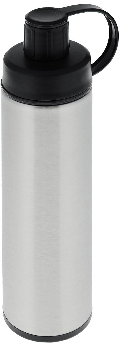 Спорт-термос Tescoma Constant, с ситечком, 0,5 л318528Двустенный спорт-термос Tescoma Constant выполнен из качественной нержавеющей стали, которая не вступает в реакцию с содержимым термоса и не изменяет вкусовых качеств напитка. Изделие снабжено пластиковым ситечком, которое позволит вам заваривать в термосе рассыпной чай, а также имеет крышку на ремне. Прочный и надежный термос станет незаменимым помощником не только для спортсменов, рыболовов, охотников, но и для путешественников и туристов. Не рекомендуется мыть в посудомоечной машине. Диаметр горлышка: 5 см. Диаметр основания термоса: 7 см. Высота термоса (с учетом крышки): 24,5 см. Размер ситечка: 4,5 х 4,5 х 2,5 см.