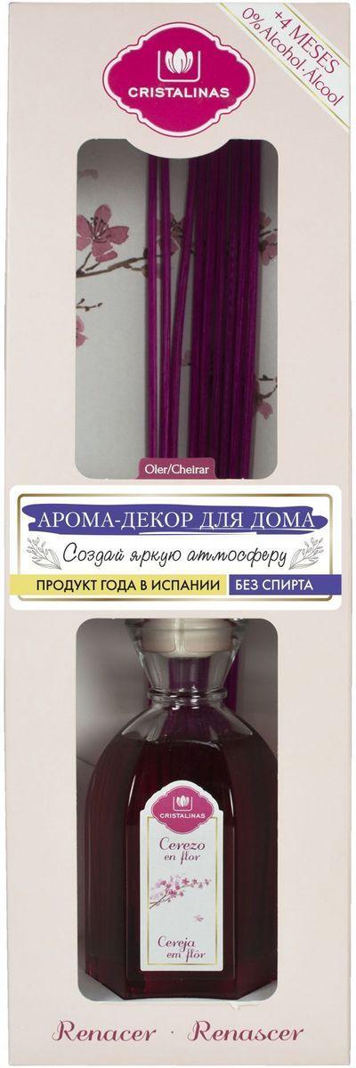Арома-диффузор Cristalinas Mikado, для жилых помещений, с ароматом цветущей вишни, 180 мл314060Арома-диффузор Cristalinas для жилых помещений с ароматом цветущей вишни создаст успокаивающую атмосферу в доме. Аромат будет распространяться и заполнять помещение плавно и равномерно, будто обволакивая его. Арома-диффузор наполнит помещение приятным ароматом на 16 недель и вам всегда будет особенно хотеться возвращаться домой. Способ применения: 1. Снимите крышку. 2. Разместите все ротанговые палочки и расправьте в форме веера. 3. Подождите пару часов пока палочки пропитаются ароматом. 4. Для более интенсивного запаха можно перевернуть палочки. 5. Интенсивность запаха может варьироваться в зависимости от количества размещённых палочек. Способ хранения: хранить в недоступном для детей месте. Меры предосторожности: не употреблять внутрь. Не разбавлять с водой или другими маслами. Использовать только специальные сменные блоки. Не вставлять другие палочки, так они не будут поглощать аромат. Избегать попадания в глаза и прямого...