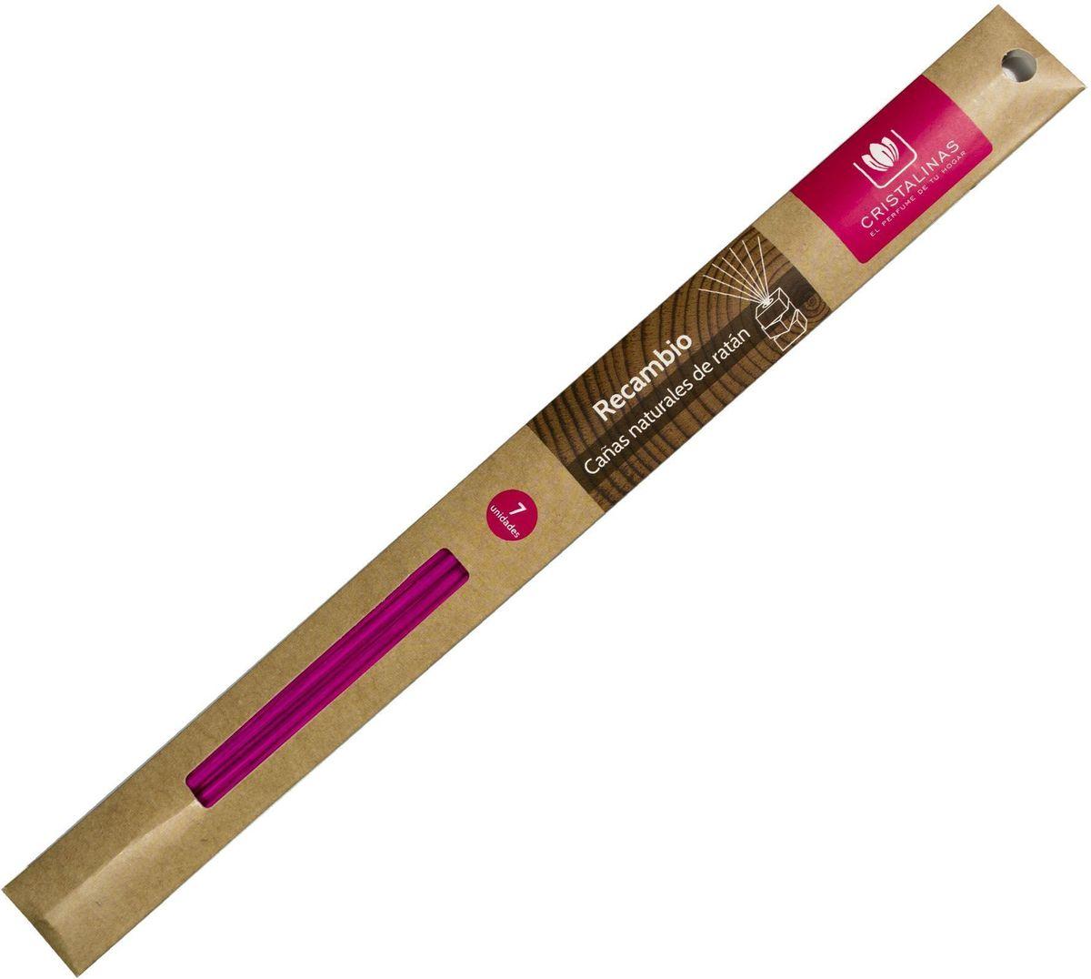 Палочки ротанговые Cristalinas Natural Wood, цвет: светло-розовый, 7 шт.316293Главный атрибут любого арома-диффузора – это ротанговые палочки. Благодаря их особой пористой структуре ароматическое масло хорошо впитывается, затем поднимается из флакона вверх, наполняя помещение приятным ароматом. Можно использовать разное количество палочек, регулируя интенсивность аромата. Ротанговые палочки Cristalinas созданы из натурального дерева. Способ применения: поместить необходимое количество ротанговых палочек во флакон. Рекомендуется периодически переворачивать палочки для повышения интенсивности аромата. Состав: материал – ротанг.
