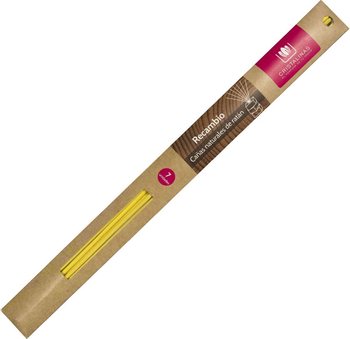 Палочки ротанговые Cristalinas Natural Wood, цвет: желтый, 7 шт.316330Главный атрибут любого арома-диффузора – это ротанговые палочки. Благодаря их особой пористой структуре ароматическое масло хорошо впитывается, затем поднимается из флакона вверх, наполняя помещение приятным ароматом. Можно использовать разное количество палочек, регулируя интенсивность аромата. Ротанговые палочки Cristalinas созданы из натурального дерева. Способ применения: поместить необходимое количество ротанговых палочек во флакон. Рекомендуется периодически переворачивать палочки для повышения интенсивности аромата. Состав: материал – ротанг.