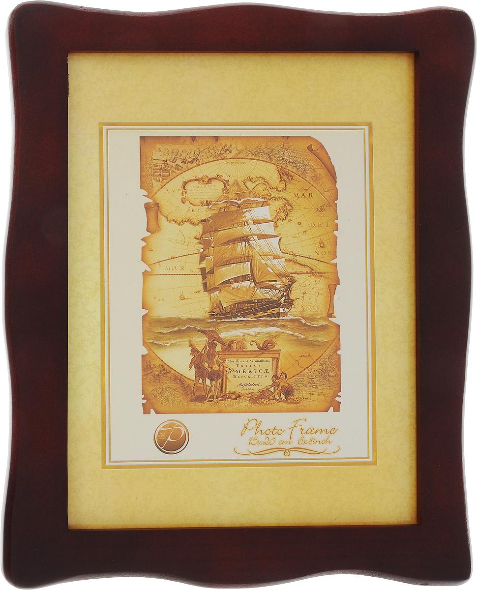 Фоторамка Pioneer Susanna, цвет: темно-красный, 15 x 20 см633732001_темно-красныйФоторамка Pioneer Susanna выполнена из высококачественного дерева и стекла, защищающего фотографию. Оборотная сторона рамки оснащена специальной ножкой, благодаря которой ее можно поставить на стол или любое другое место в доме или офисе. Также на изделии имеются две петельки для горизонтального и вертикального подвешивания. Такая фоторамка поможет вам оригинально и стильно дополнить интерьер помещения, а также позволит сохранить память о дорогих вам людях и интересных событиях вашей жизни.