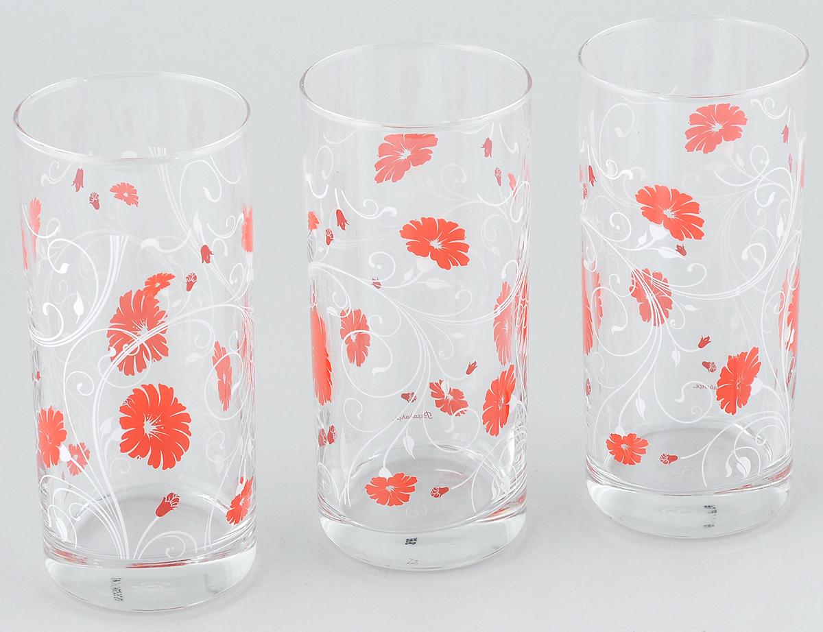 Набор стаканов Pasabahce Workshop Serenade, цвет: красный, 287 мл, 3 шт42402B/D5Набор Pasabahce Workshop Serenade, выполненный из закаленного натрий- кальций-кальций-силикатного стекла, состоит из трех стаканов. Изделия украшены цветочным узором и прекрасно подойдут для подачи холодных напитков. Их оценят как любители классики, так и те, кто предпочитает современный дизайн. Набор идеально подойдет для сервировки стола и станет отличным подарком к любому празднику. Диаметр стакана (по верхнему краю): 6 см. Высота стакана: 13,5 см.