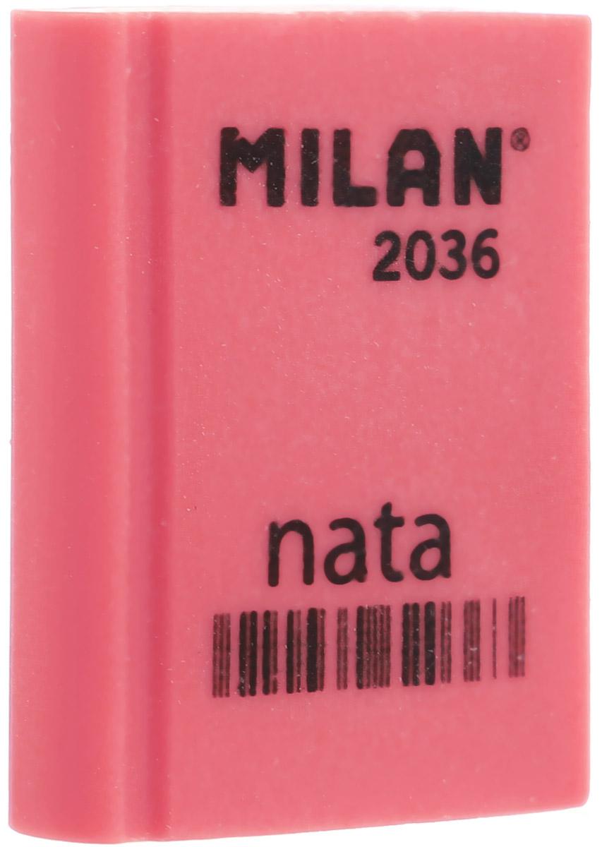 Milan Ластик Nata 2036 прямоугольный цвет кораловый