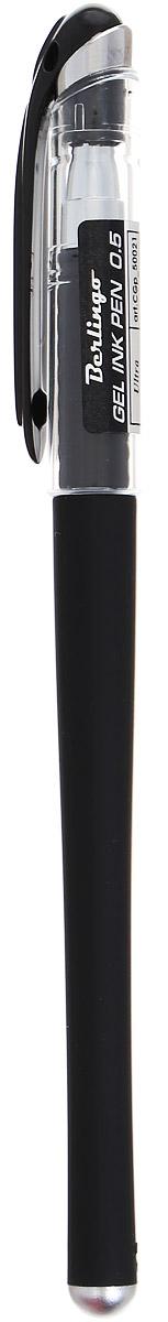 Berlingo Ручка гелевая Ultra цвет черныйCGp_50021Лаконичная гелевая ручка Berlingo Ultra с колпачком и клипом имеет стильный дизайн. Цвет корпуса соответствует цвету чернил. Диаметр пишущего узла - 0,5 мм.