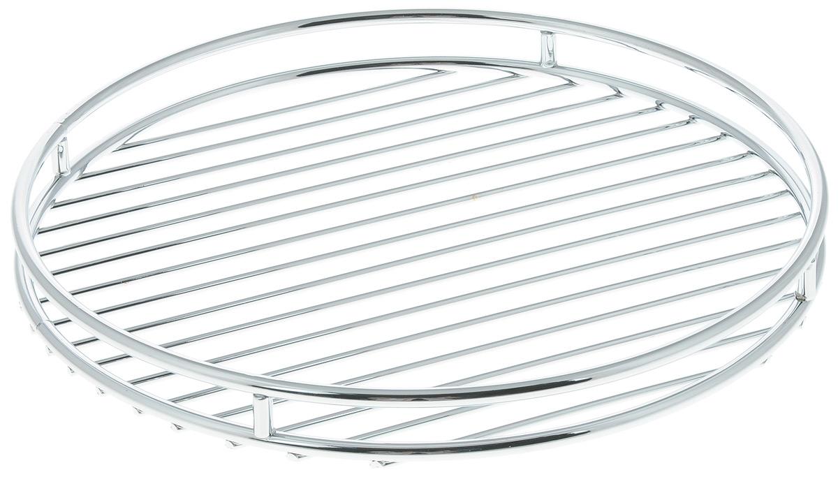 Подставка под горячее Tescoma Monti, диаметр 24 см900063Подставка под горячее Tescoma Monti выполнена из нержавеющей стали с хромовым покрытием. Благодаря стильному дизайну идеально впишется в интерьер современной кухни. Каждая хозяйка знает, что подставка под горячее - это незаменимый и очень полезный аксессуар на каждой кухне. Ваш стол будет не только украшен оригинальной подставкой, но и сбережен от воздействия высоких температур ваших кулинарных шедевров. Диаметр подставки: 24 см. Высота подставки: 2,5 см.