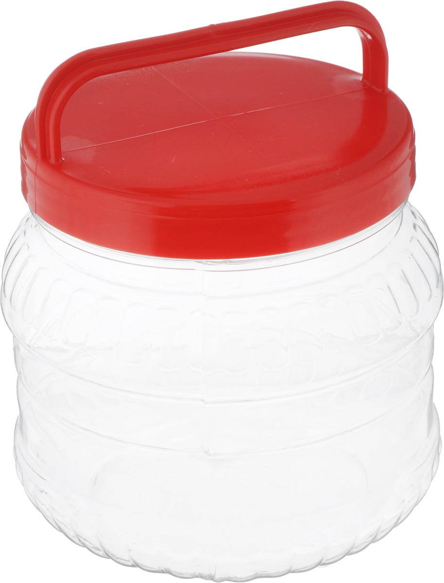 Бидон Альтернатива, цвет: красный, 1 лМ469Бидон Альтернатива выполнен из пластика и предназначен для хранения и переноски разных жидкостей: молока, воды и прочего. Крышка оснащена ручкой для удобной переноски. Высота бидона (без учета крышки): 12 см. Диаметр по верхнему краю: 10,5 см.