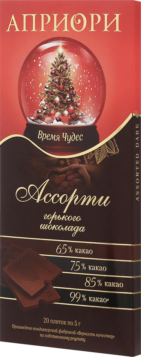 Априори горький шоколад ассорти горьких сортов, 100 г 8252874