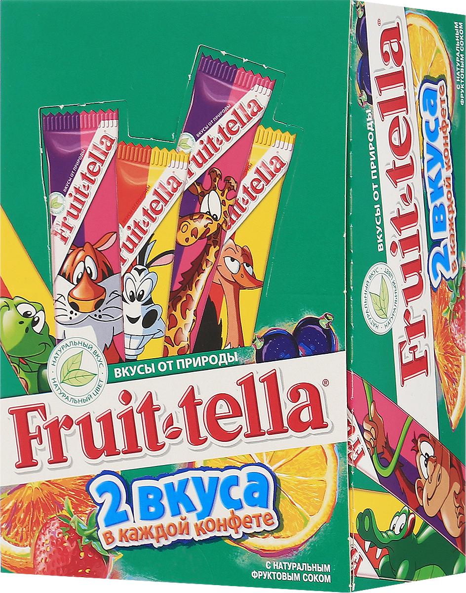 Fruittella Family жевательные конфеты, 50 штук по 5 г8251900Жевaтельные конфеты Fruittella Ассорти придется по вкусу всем любителям сладостей. Fruittella имеет насыщенный и очень сочный вкус различных ягод и фруктов. Сочные жевательные конфеты Fruittella дарят детям и взрослым всю радугу цветов и вкусов: от апельсина и яблока до черной смородины и клубники! Они изготовлены по уникальной рецептуре с использованием только натуральных компонентов – фруктов, овощей и фруктовых соков!