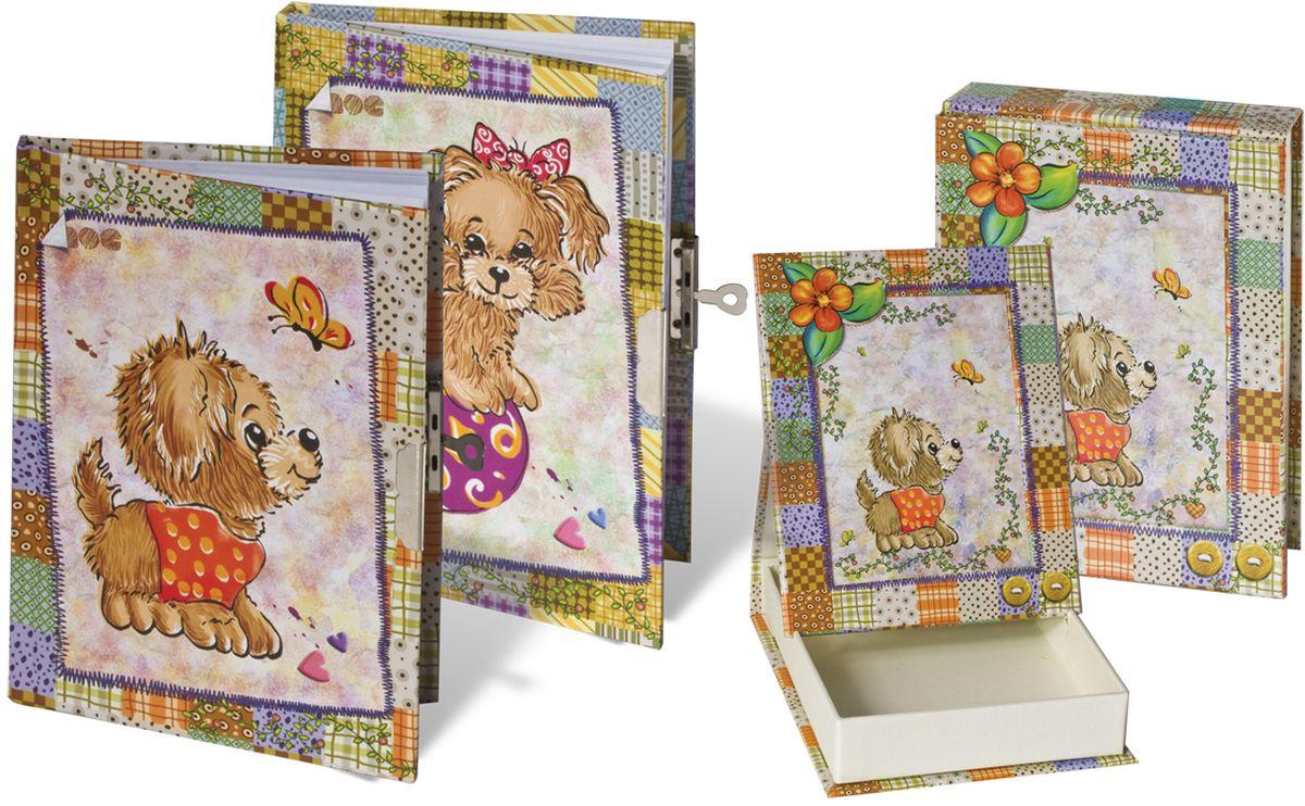 Brauberg Блокнот 60 листов в линейку 123560123560Украшенный блестками детский блокнот Brauberg с изображением милых щенков на обложке, с ароматизированными листами. Очаровательный замочек надежно сохранит все секреты.