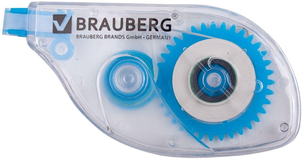 Brauberg Корректирующая лента 5 мм х 6 м221685Корректирующая лента Brauberg обеспечивает моментальное исправление ошибок, отличное письмо по исправленному и не требует времени для высыхания. Подходит для всех типов бумаг. Размер 5 мм на 6 м.
