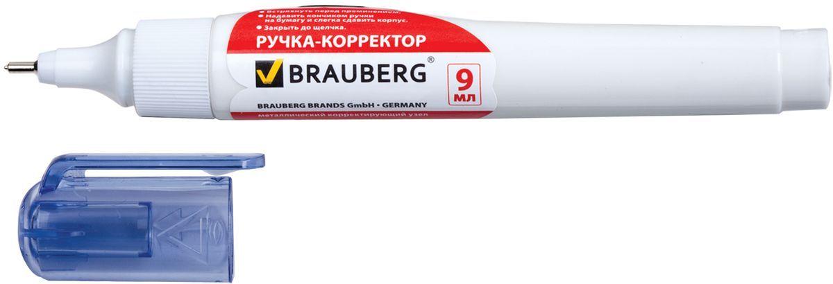 Brauberg Ручка-корректор Energy 9 мл222057Ручка-корректор Brauberg предназначена для наиболее аккуратного и точного исправления печатного и рукописного текста. Надежный металлический наконечник обеспечивает экономичный расход корректирующей жидкости.