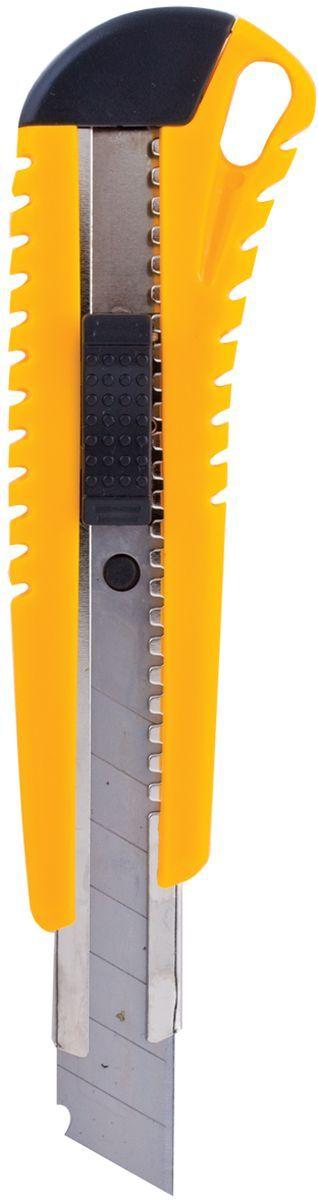 Brauberg Нож канцелярский 18 мм 230918230918Нож универсальный Brauberg с автоматической фиксацией положения лезвия AUTO-LOCK. Снабжен запасными лезвиями, расположенными внутри корпуса ножа, и металлическими направляющими. Ширина лезвия 18 мм.