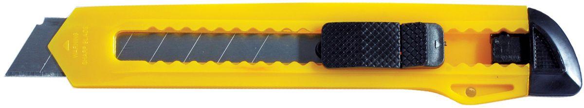 Erich Krause Нож канцелярский Standard цвет желтый 15 см231613Канцелярский нож Erich Krause Standard предназначен для работы с бумагой, плотным картоном, пленкой и так далее. Корпус ножа выполнен из пластика. Выдвижное многосекционное лезвие изготовлено из высококачественной нержавеющей стали. Нож оснащен плоским ручным фиксатором и системой блокировки лезвия Push-Lock.