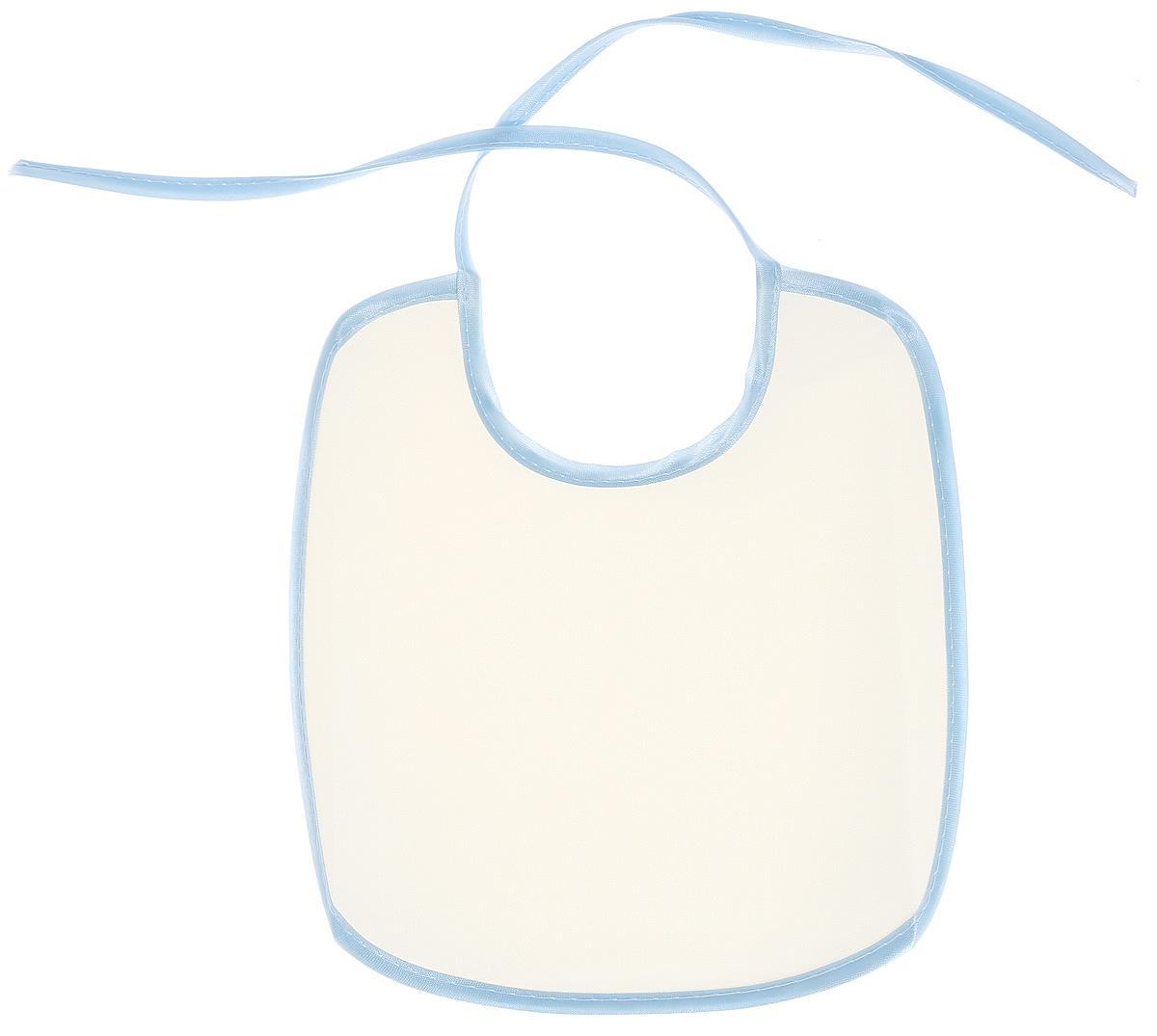 Колорит Нагрудник защитный цвет белый светло-голубой 20 х 22 см