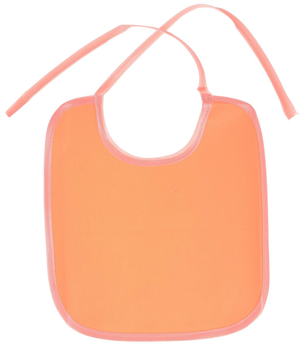 Колорит Нагрудник цвет оранжевый розовый 20 х 22 см