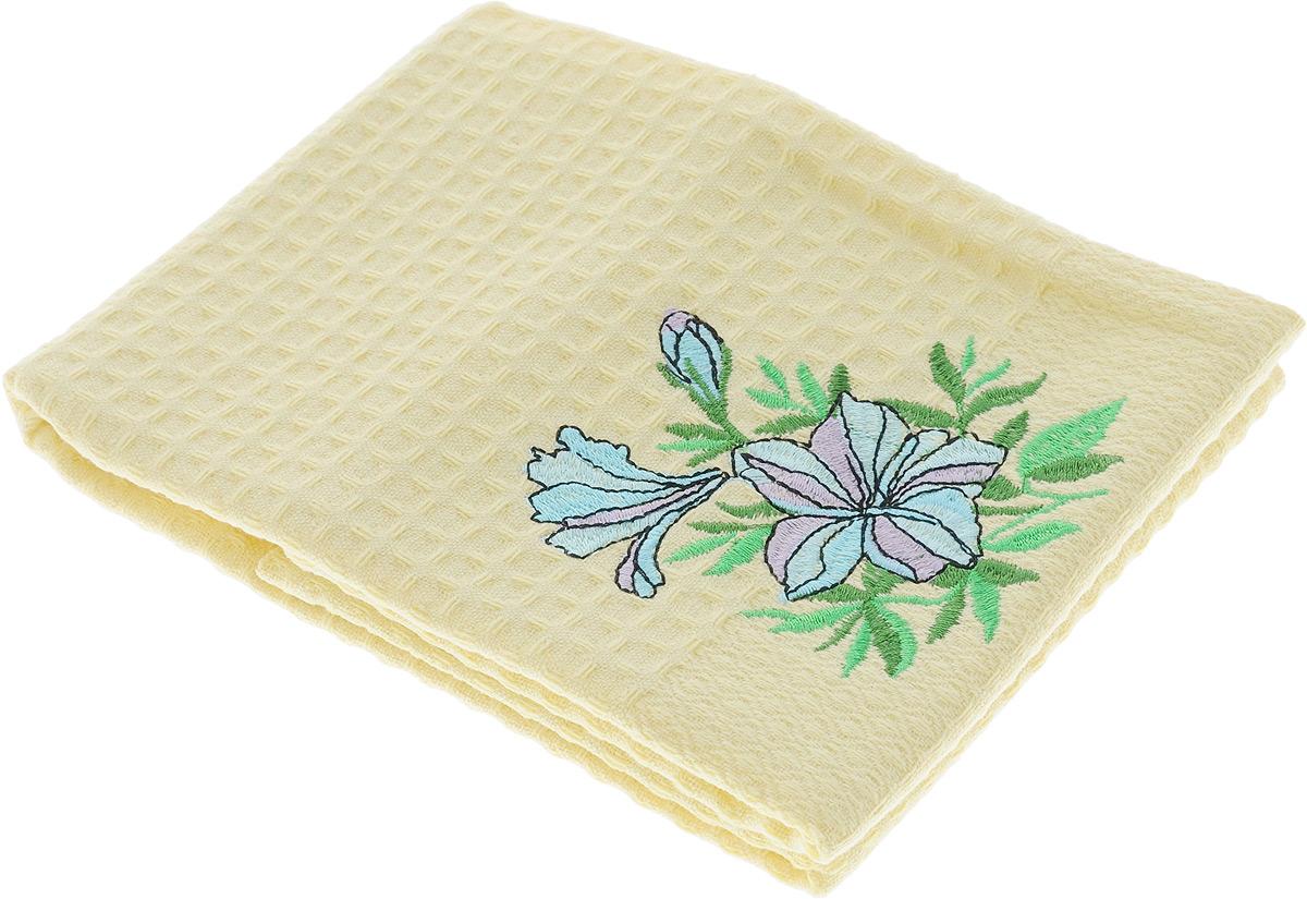 Полотенце кухонное Soavita Цветок, 40 х 60 см. 4880548805_цветокКухонное полотенце Soavita Цветок выполнено из 100% хлопка и декорировано вышивкой. Оно отлично впитывает влагу, быстро сохнет, сохраняет яркость цвета и не теряет форму даже после многократных стирок. Изделие предназначено для использования на кухне и в столовой. Такое полотенце станет отличным вариантом для практичной и современной хозяйки.