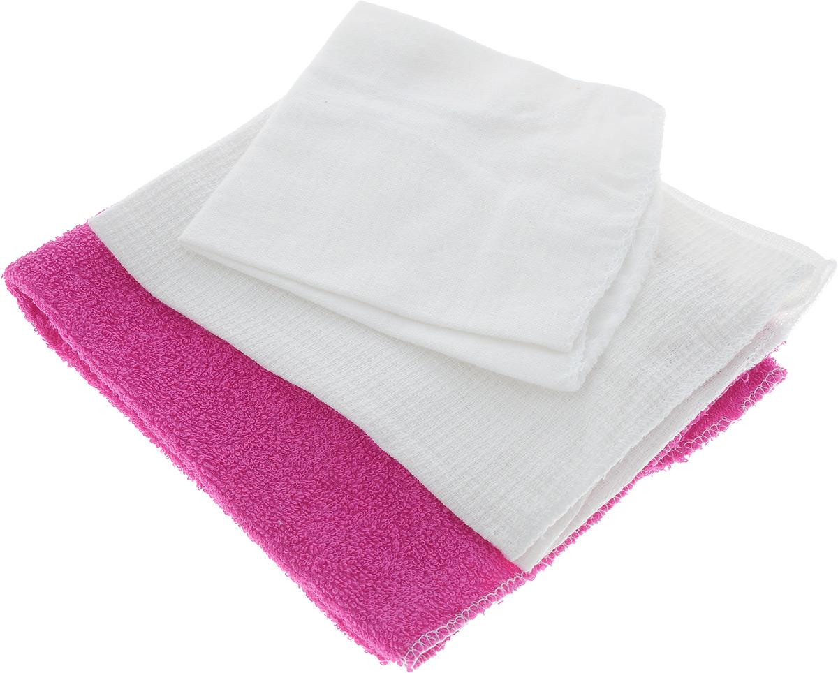 Набор салфеток для мойки и полировки автомобиля Главдор, цвет: розовый, белый, 3 штGL-90-004_розовый,белыйНабор салфеток для мойки и полировки автомобиля Главдор состоит из 3 различных по фактуре салфеток, выполненных из 100% хлопка. Вафельная салфетка подходит для протирки насухо любых поверхностей автомобиля после мойки и других работ, а также для бытового применения. Махровая салфетка подходит для удаления пыли, нанесения очистителей и полиролей, а также для располировки автомобильной косметики. Фланелевая салфетка подходит для ухода за внешними и внутренними частями автомобиля - удаление излишней влаги, пыли и загрязнений. Размер салфеток: 37 х 37 см; 25 х 29 см; 39 х 39 см.