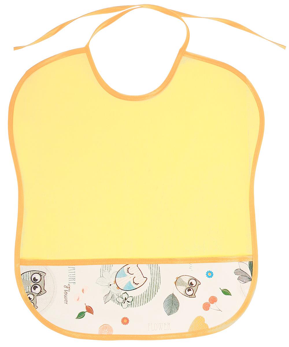 Колорит Нагрудник защитный Совы цвет желтый белый 33 х 33 см