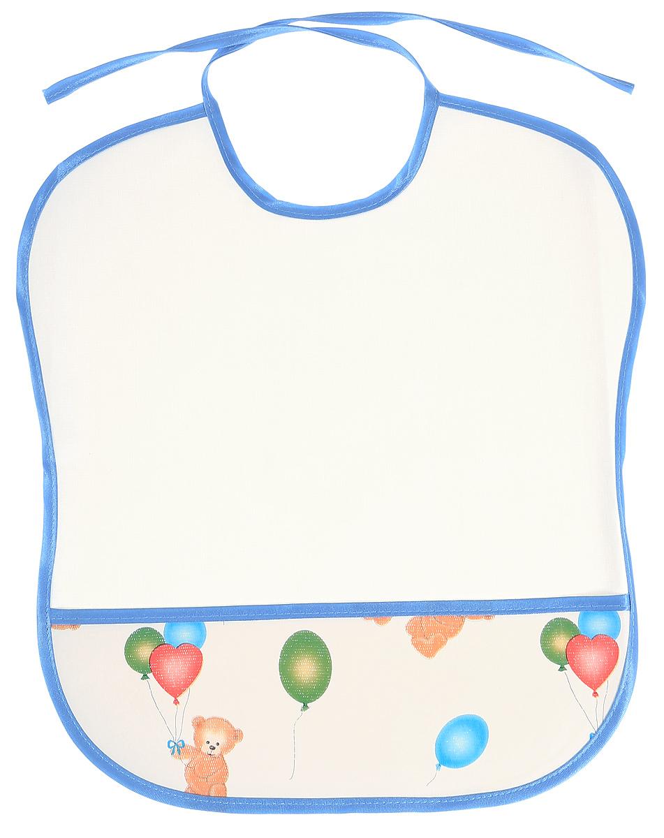 Колорит Нагрудник защитный Мишки с шариками цвет белый 33 х 33 см