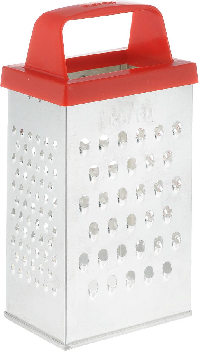 Терка Кварц Эконом четырехгранная, высота 18 смК01.000.09Терка Кварц Эконом выполнена из высококачественной белой жести с эргономичной пластиковой ручкой. Терка предназначена для измельчения и нарезки фруктов, овощей и других продуктов. Терку необходимо мыть сразу после использования. Не используйте для чистки жесткие предметы, металлические мочалки и чистящие порошки. Размер терки с учетом ручки (ВхДхШ): 18 см х 8,5 см х 6 см.