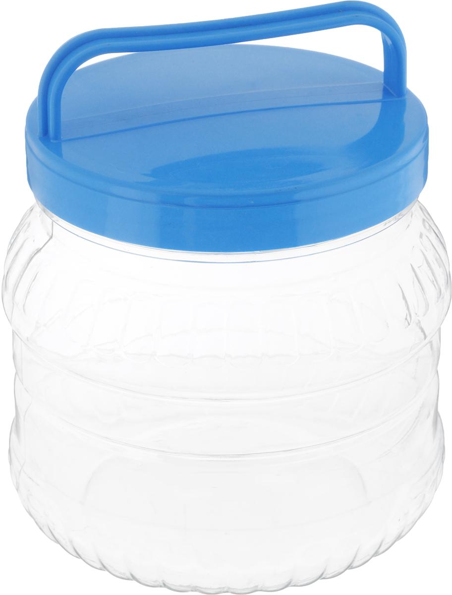 Бидон Альтернатива, цвет: прозрачный, голубой, 1 лМ469_голубой, прозрачныйБидон Альтернатива Бочонок, выполненная из высококачественного пластика, предназначена для хранения сыпучих продуктов или жидкостей. Крышка оснащена ручкой для удобной переноски. Высота бидона (без учета крышки): 12 см. Диаметр по верхнему краю: 10,5 см.