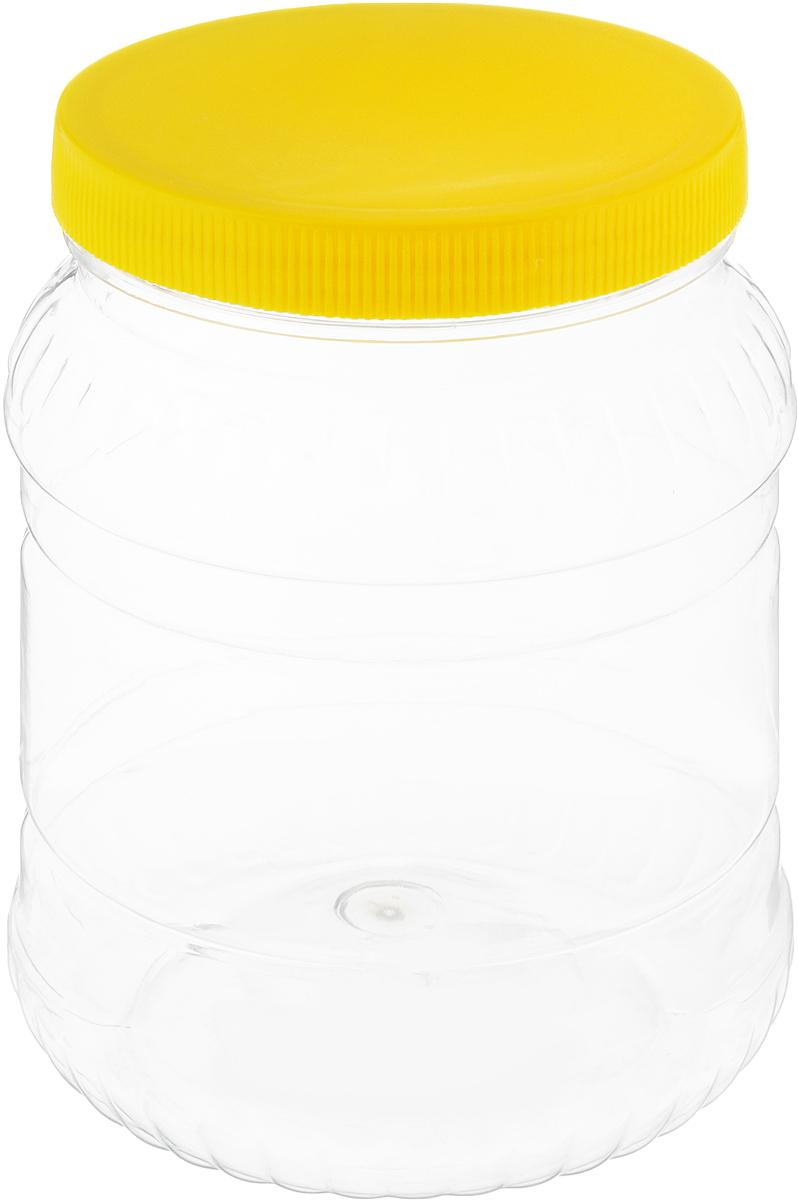 Банка для сыпучих продуктов Альтернатива, цвет: желтый, прозрачный, 1,5 лМ490_желтый, прозрачныйБанка для сыпучих продуктов Альтернатива, изготовленная из высококачественной пластмассы, станет незаменимым помощником на любой кухне. В ней будет удобно хранить сыпучие продукты, такие, как чай, кофе, соль, сахар, крупы, макароны и многое другое. Емкость плотно закрывается крышкой. Яркий дизайн банки позволит украсить любую кухню, внеся разнообразие как в строгий классический стиль, так и в современный кухонный интерьер. Диаметр банки (по верхнему краю): 10,5 см. Высота банки (с учетом крышки): 16,5 см.