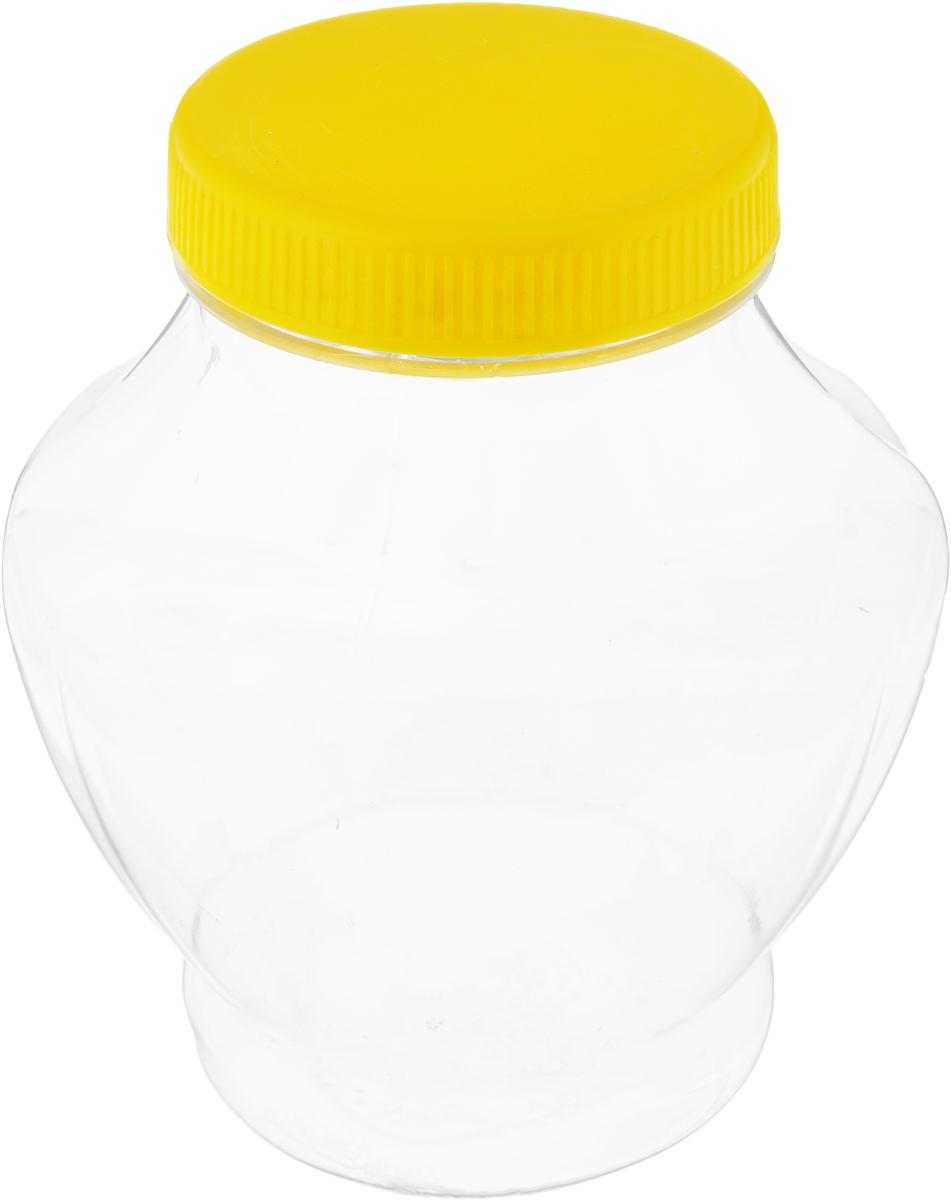 Банка для меда Альтернатива, с крышкой, цвет: прозрачный, желтый, 300 млM1704_желтыйБанка для меда Альтернатива, изготовленная из высококачественного пластика, оснащена плотно закрывающейся крышкой. Банка для меда Альтернатива идеально подойдет для сервировки стола и станет отличным подарком к любому празднику. Диаметр банки (по верхнему краю): 6 см. Высота (без учета крышки): 11 см.