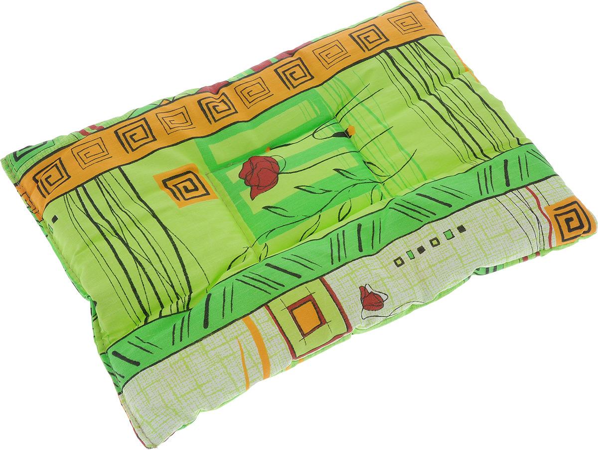 Лежак для животных Elite Valley Матрасик, цвет: светло-зеленый, оранжевый, красный, 50 х 35 смЛ16/3 Лежак матрасик _ стамбул зеленый, материал бязь, синтепонЛежак для животных Elite Valley Матрасик изготовлен из высококачественной бязи (100% хлопок), наполнитель - синтепон. Идеален для переносок и использования в автомобиле. Он станет излюбленным местом вашего питомца, подарит ему спокойный и комфортный сон. Яркий дизайн позволяет лежаку выглядеть привлекательным даже в период линьки. Матрас легко складывается для перевозки и хранения. Высота лежака: 3 см.