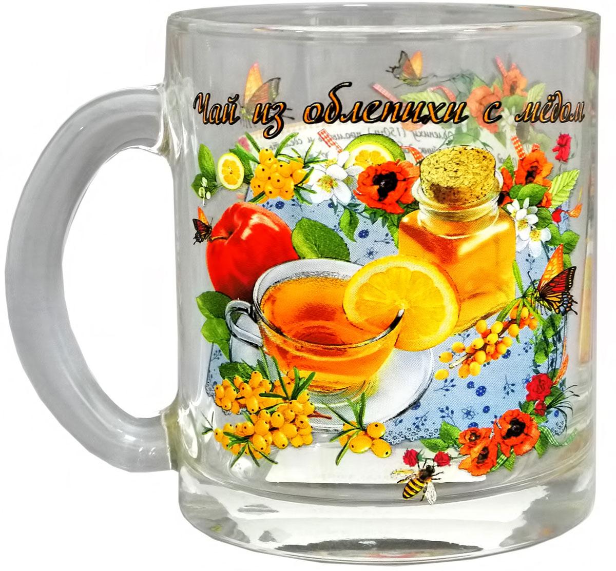 Кружка чайная Квестор Чай из облепихи с медом, 320 мл103-003Кружка чайная Квестор Чай из облепихи с медом, 320 мл