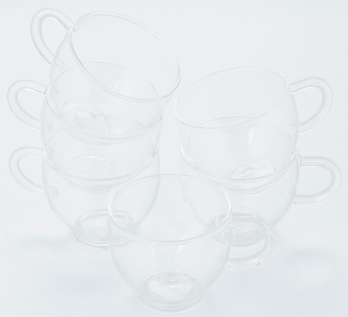 Набор кофейный Hunan Provincial, 120 мл, 6 шт15126Посуда из жаропрочного стекла проста и удобна в использовании, ей не страшны резкие колебания температуры от -20 °C до 100 °C. Стеклянную посуду удобно мыть, кроме того, она не впитывает запахи и не передает посторонних нот чаю. Особенности модели: чашка из тонкого жаропрочного стекла. Прозрачность стенок подчеркивает и оттеняет красивый цвет чайного настоя. Объем: 120 мл. В упаковке 6 шт.