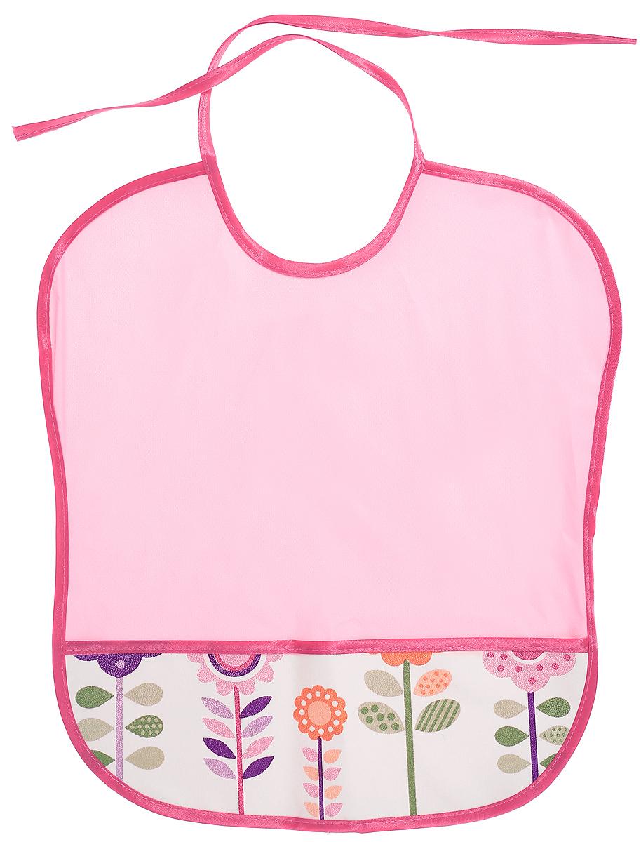 Колорит Нагрудник защитный Цветы цвет розовый малиновый 33 х 33 см